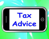 Tax Advice On Phone Shows Taxation Help Online — Stock Photo