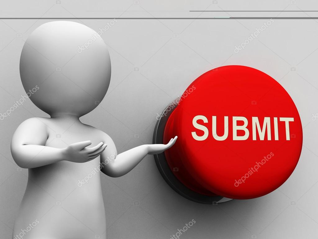 Submit Button Means Enter Application Or Document — Stock ...
