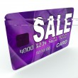 Stock Photo: Sale On Credit Debit Card Shows Offer Bargain Promotion