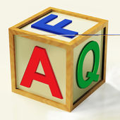FAQ Block Means Questions Inquiries And Answers — Stock Photo