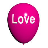 Love Balloon Shows Fondness and Affectionate Feelings — Foto de Stock