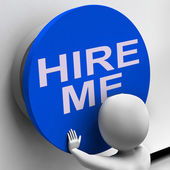 Hire Me Button Means Job Applicant Or Freelancer — Stock Photo