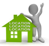 Location Location Location House Shows Perfect Property And Area — Stockfoto