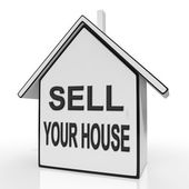 Sell Your House Home Shows Listing Real Estate — Stock Photo