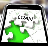 Loan Smartphone Shows Online Financing And Lending — Stock Photo