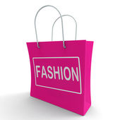 Fashion Shopping Bag Shows Fashionable Trendy And Stylish — Photo