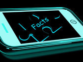 Facts Smartphone Shows True And Honest Answers — Stock Photo