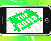 Top Rated Tablet Means Most Popular Or Best-Seller — Stok fotoğraf