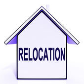 Relocation House Means New Residency Or Address — Stock Photo