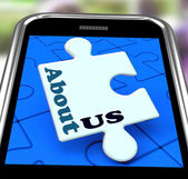 About Us Smartphone Means What We Do Website Section — Stock Photo