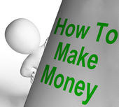 How To Make Money Sign Means Riches And Wealth — Stock Photo