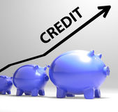 Credit Arrow Means Lending Debt And Repayments — Stock Photo