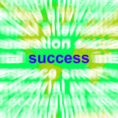 Success Word Cloud Shows Succeed Winning Triumph And Victories — Stock Photo