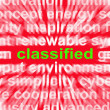 Classified Word Shows Top Secret Or Confidential Document — Stock Photo