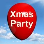 Xmas Party Balloon Shows Christmas Festivity and Celebration — Stock Photo