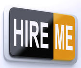 Hire Me Button Shows Employment Online — Stock fotografie