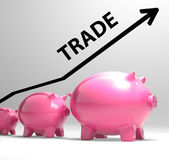 Trade Graph Shows Increase In Buying And Selling — Stock Photo