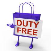 Duty Free Bag Represents Tax Exempt Discounts — Stock Photo