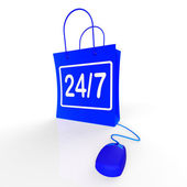 Twenty-four Seven Bags Show Online Shopping Availability — Stock Photo