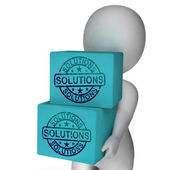 Solutions Boxes Mean Solving Market And Product Problems — Stock Photo