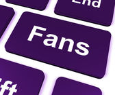 Fans Key Shows Follower Or Internet Fan — Stock Photo