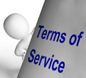 Terms Of Service Sign Shows User And Provider Agreement — Stock Photo