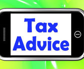 Tax Advice On Phone Shows Taxation Irs Help — Stock Photo