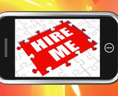 Hire Me Tablet Means Job Candidate Or Freelancer — Stock Photo