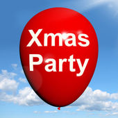 Xmas Party Balloon Shows Christmas Festivity and Celebration — Stock Photo