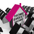 Постер, плакат: Home Sweet Home House Cozy And Familiar