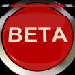 Beta Button Shows Development Or Demo Version — Stock Photo