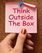 Think Outside The Box Means Different Unconventional Thinking — Stock Photo