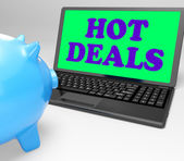 Hot Deals Laptop Means Best Buys And Reduced Price — Stock Photo