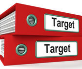Target Folders Show Business Goals And Objectives — Stock Photo