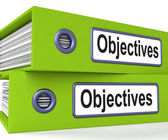 Objectives Folders Mean Business Goals And Targets — Photo