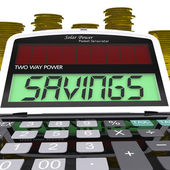 Savings Calculator Shows Setting Aside Financial Reserves — Stock Photo