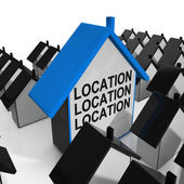 Location Location Location House Means Situated Perfectly — Stock Photo