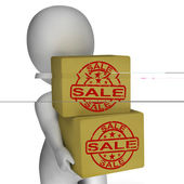 Sale Boxes Show Reduced Price And Big Savings — Foto de Stock