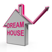 Dream House Home Means Finding Or Building Ideal Property — Stock Photo