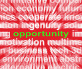Opportunity Word Shows Good Chance Or Favourable Circumstances — Stock Photo