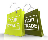 Fair Trade Bag Represents Equal Deals and Exchange — Stock Photo