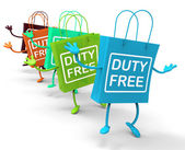 Duty Free Bags Show Tax Exempt Discounts — Stock Photo