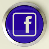 Facebook Button Means Connect To Face Book — Stock Photo
