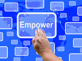 Empower Touch Screen Means Encourage Empowerment — Stock Photo
