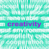 Creativity Word Shows Originality, Innovation And Imagination — Stock Photo