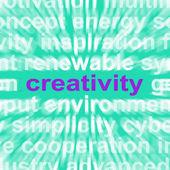 Creativity Word Shows Originality, Innovation And Imagination — Stock Photo