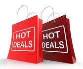 Hot Deals Bags Show Shopping  Discounts and Bargains — Stock Photo