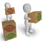 Approved Rejected  Boxes Mean Product Testing Quality Control — Stock Photo