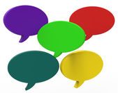 Blank Speech Balloon Shows Copyspace For Thought Chat Or Idea — Foto de Stock