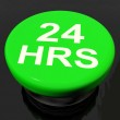 Twenty Four Hours Button Shows Open 24 hours — Stock Photo #42185513